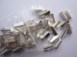 50 x lintklemmen van 12mm breed zilverkleur - SUPERLAGE PRIJS!