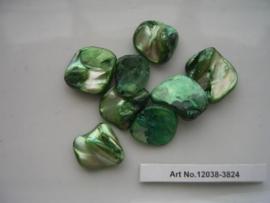 8 x hangers van schelp onregelmatig groen 117466/3824
