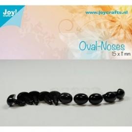Joy6300/0633- 10 stuks ovale neuzen 15x11mm zwart