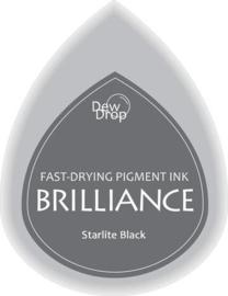 132019/1090- brilliance stempelkussen dew drops starlight black 3.5x5cm