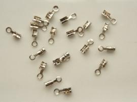 CH.035- 20 stuks mini veterklemmen voor veters van 0.5-1.5mm dik