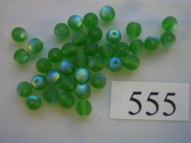 555 Ronde glaskraal 5.5 mm groen