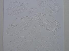 484- hoedjes wit