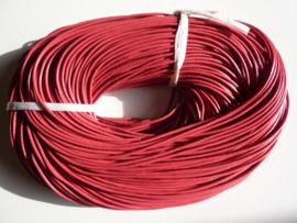 100 meter echt leren veter fuchsia van 2mm dik - AA kwaliteit - SUPERLAGE PRIJS!