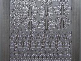 st 360- randje met figuurtjes zilver 10x20cm