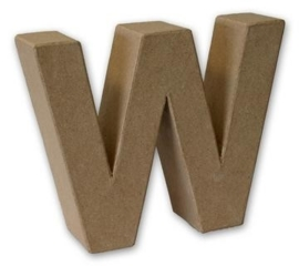 1929 3123- stevige decoratie letter van papier mache - 3D letter W