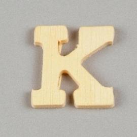 006887/1309- 2cm houten letter K