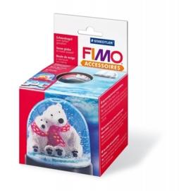 2152 214- Fimo sneeuwbal rond 90x75mm