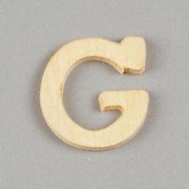 006887/1260- 2cm houten letter G
