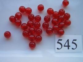 545 - ronde glaskraal 5.5 mm rood