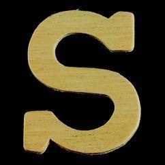8735 626- 4cm houten letter S