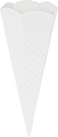 KN204869900- 5 stuks XL puntzakken van golfkarton met reliëf 41cm wit