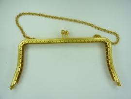 35- tasbeugel van 16cm met ketting goudkleur