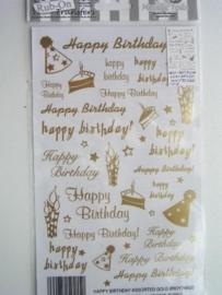 5019- happy birthday Rub-on transfer