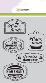 CE185070/1020- Craft Emotions mask stencil A5 fifties kitchen labels