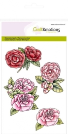 CE130501/1065- Craft Emotions clearstamps A6 rozen