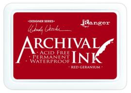 CE306014/8993- Ranger archival ink pad - red geranium