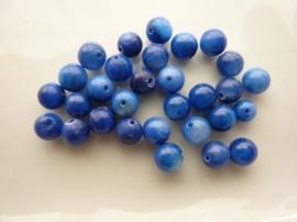 2625- 30 stuks schelpenkralen van 6mm donkerblauw