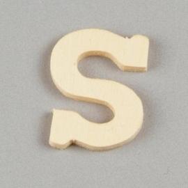 006887/1384- 2cm houten letter S