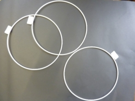 wit gelakte metalen dichte ring van 22cm doorsnee - 6770 223