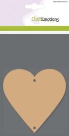 CE812301/0106- 3 stuks MDF basisvormen hart van 10x10cm