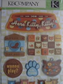 5153- K&Co grand adh. 3D stickers katten afbeeldingen