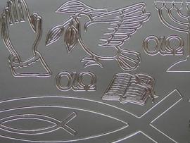 601- diverse condolatie afbeeldingen zilver 10x20cm