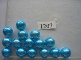 15 x glasparels 12mm turqoise 12006/1207