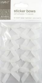 589910/0000- 10 stuks strikjes zelfklevend 5x4.5cm wit