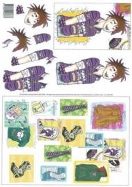 kn/117- A4 knipvel punk boy -117141/9287