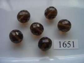 6 stuks ovaal 13x14mm 1651
