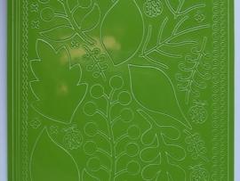 st784- stickervel blaadjes groen