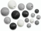6023 165- 20 stuks houten kralen zwart/grijs/wit mix
