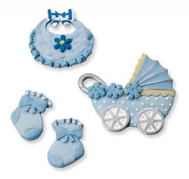 6930 197- 4-delig baby decoratie setje baby boy