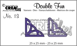 CE115634/0313- Crealies double fun no.13 hoeken 1+2 CLDF13