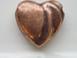 hart bronskleur 28x29mm 117465/1625