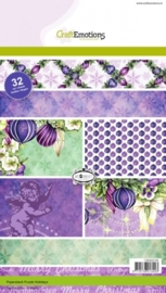 CE118040/0105- 32 vel Craft Emotions paper stack purple holiday A5