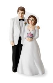 8008 094- bruidspaar bruidsdecoratie bruid en bruidegom van 11cm
