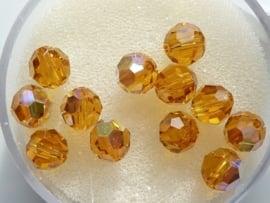 109206/1210- 12 x swarovski kristal kralen rond 6mm topaz AB