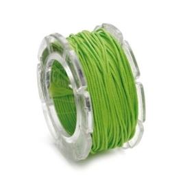 002290/0341- 10 meter waxcord met nylonkern groen 0.6mm dik