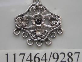 metalen ornament met 1 en 7 ogen 117464/9287KA