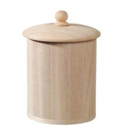 KN8735 696- 6 stuks houten voorraadpotten 8.8x8.5cm