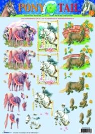 kn/1986- 3D knipvel A4 Studio light Pony Tail nr.2 - STAPPONY02