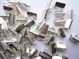 50 x lintklemmen van 10mm breed zilverkleur - SUPERLAGE PRIJS!