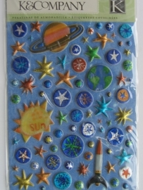 5149- K&Co 3D stickers sterren 11.5x15cm