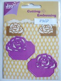 0002368- Joy0126- stencil 2 stuks hoekjes met roos OPRUIMING