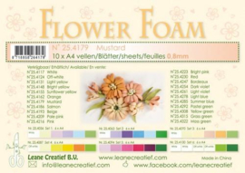 CE800205/4179- 10 sheets flower foam sheets A4 - mosterd