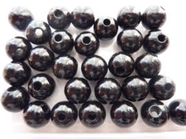 6031 617- 30 stuks houten kralen van 12mm zwart
