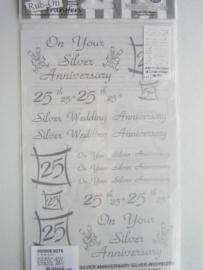 5017- trouwen 25 jaar Rub-on transfer