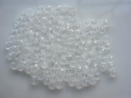 3920- ca. 145 stuks geslepen glaskralen van 4x3mm geheel transparant - SUPERLAGE PRIJS!